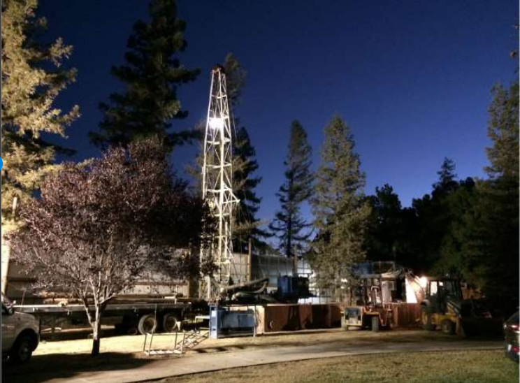 Nighttime Drilling of the new Aquifer Storage Recovery