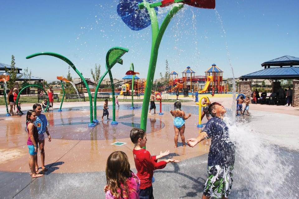 Kids at a Splash Pad
