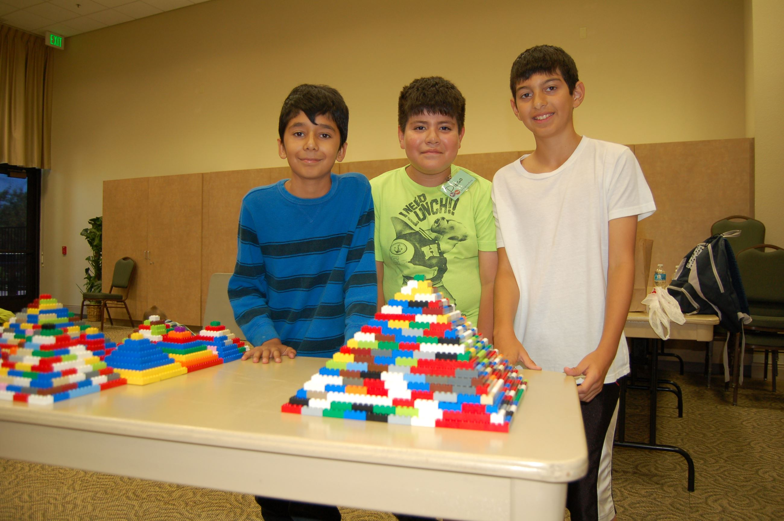 Three Boys by Legos