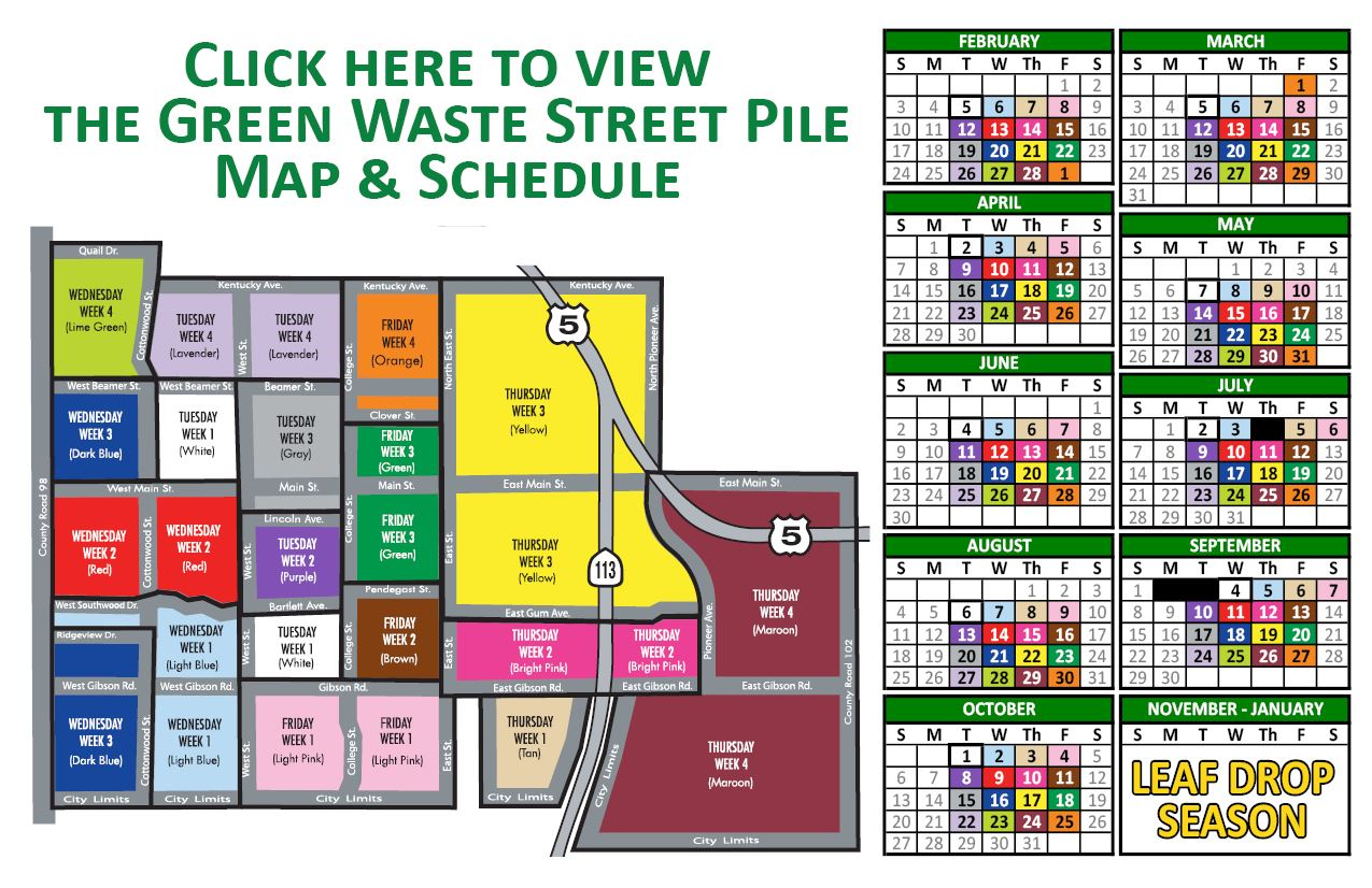 Green Waste Street Pile Map and Schedule (PDF)