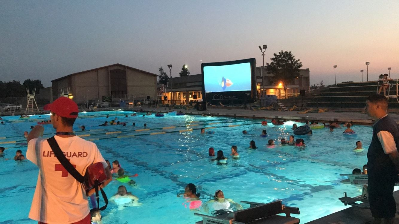 Dive In Movie at pool