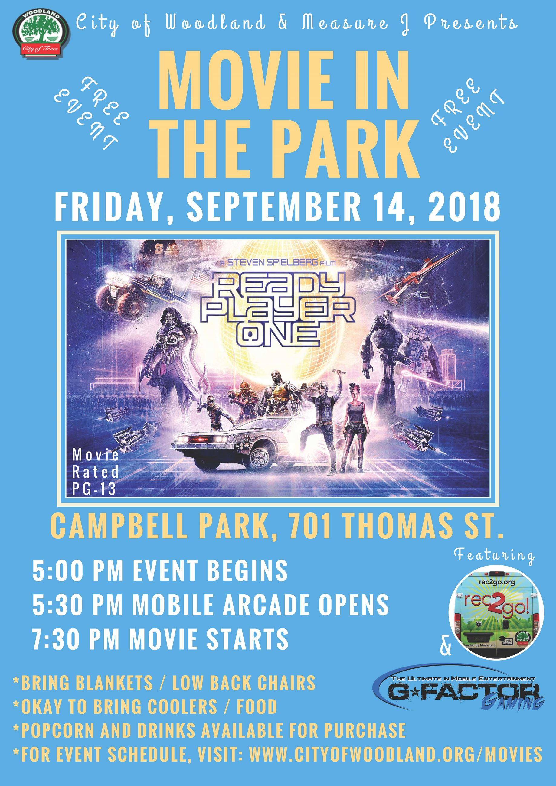 Movie in the Park at Campbell Park
