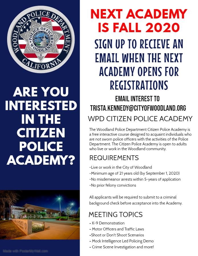 Citizens Police Academy Interest 2020