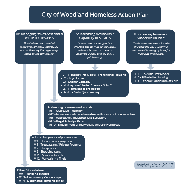 COW Homeless Action Plan Diagram