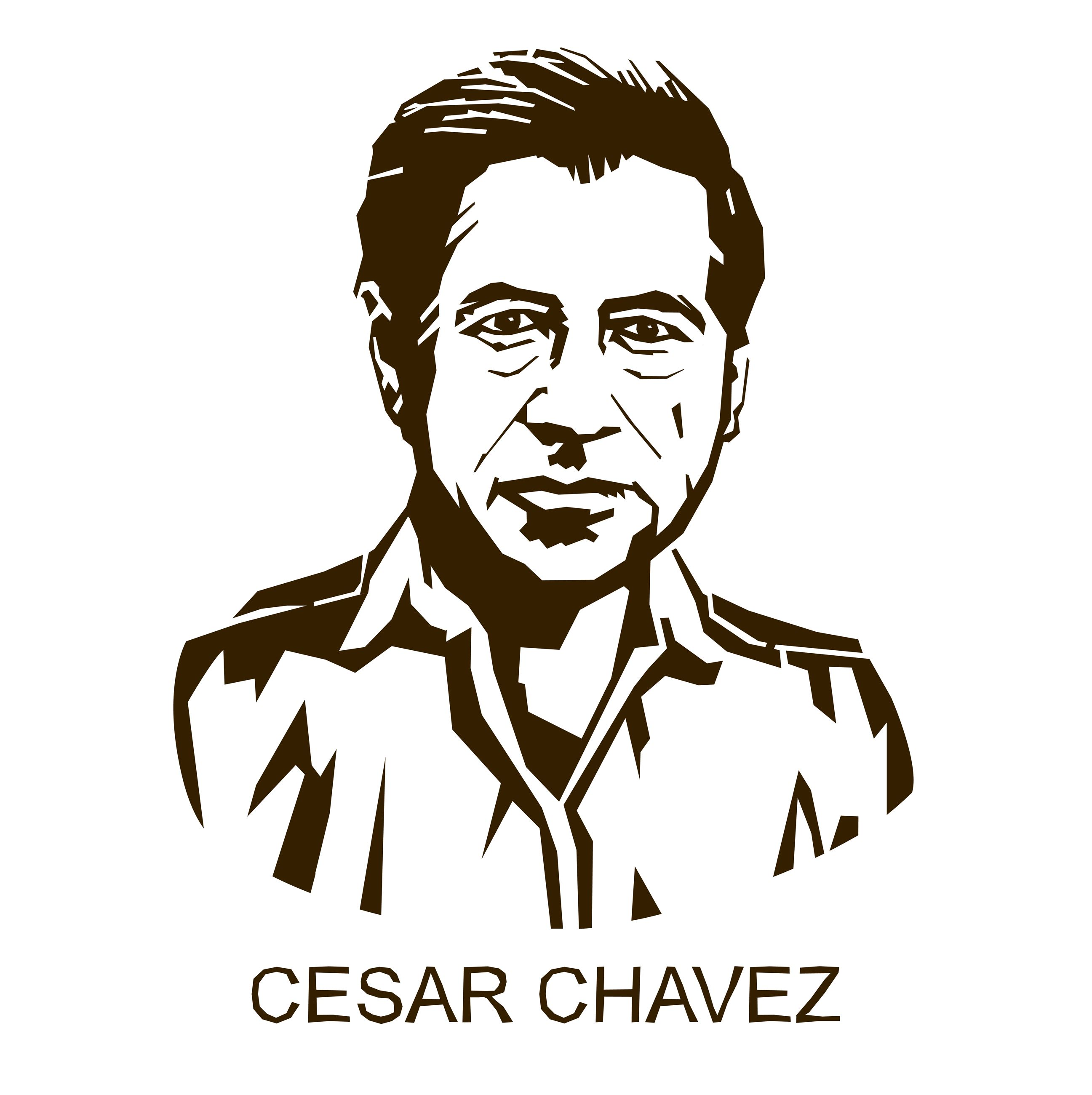 Drawing of César Chávez