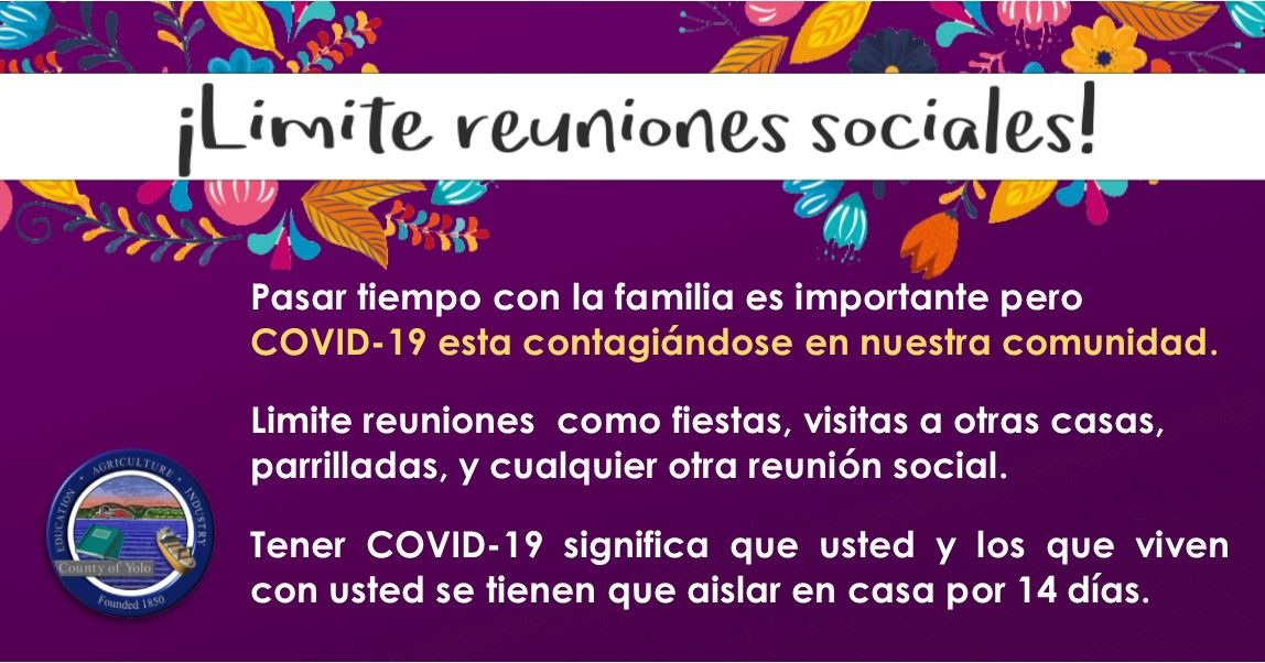 (Social Media) - Limit Social Gatherings (Spanish)