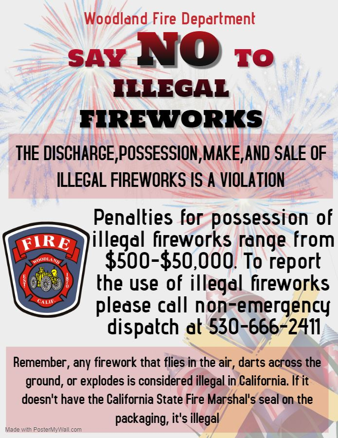 Illegal Fireworks Flyer