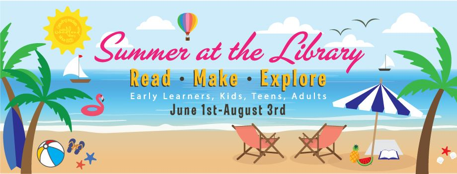 Summer at Library Facebook Banner