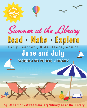 postcard for summer at the library