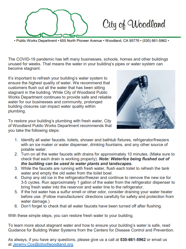 refresh water pipes instructions